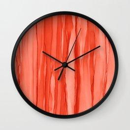 #027 - Monochrome Ink in Orange Wall Clock