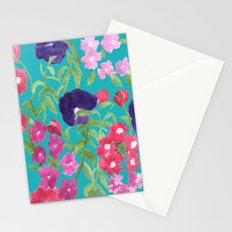 Blue Floral Print Stationery Cards