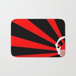 Rising DJ Red Bath Mat