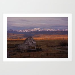Morning under the Bridgers Art Print