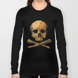 Treasure Map Skull Wanderlust Europe Long Sleeve T-shirt