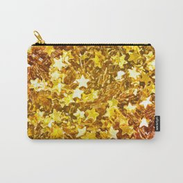 Glittering Golden Stars Carry-All Pouch