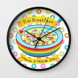 Eat Breakfast! Wall Clock
