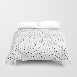 Dotted White & Black Duvet Cover