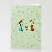 gemini Stationery Cards featuring Gemini by Giuseppe Lentini