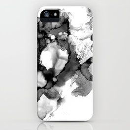 Black & White Abstract Alcohol Ink I iPhone Case