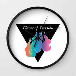 Flame of Passion_Rainbow Wall Clock