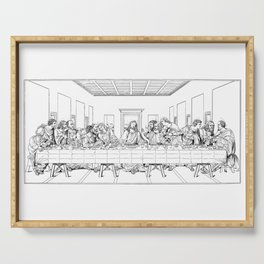 Last Supper Outline Sketch Serving Tray
