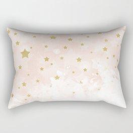 Gold stars on blush pink Rectangular Pillow