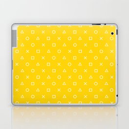 Yellow Gamer Pattern Laptop & iPad Skin