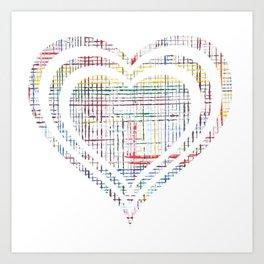 The System - heart Art Print