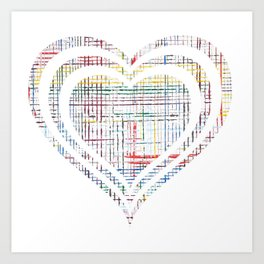 The System - heart Art Print