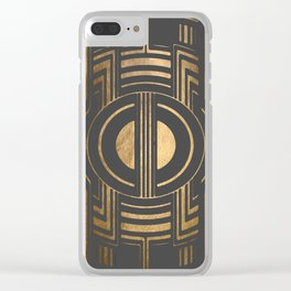 Art Deco Unfinished Love In Grey Clear iPhone Case