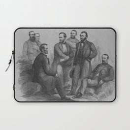 President Lincoln and His Commanders Laptop Sleeve