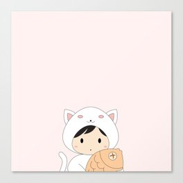 Kitten & Taiyaki Canvas Print