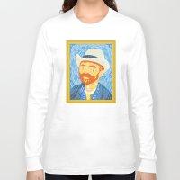 van gogh Long Sleeve T-shirts featuring Selfie Van Gogh by Alapapaju