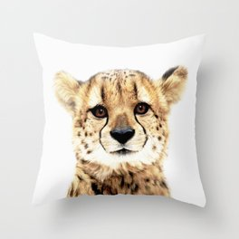 Cheetah Cub Throw Pillow