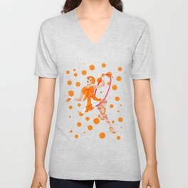 orange oddly Unisex V-Neck
