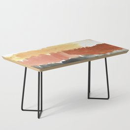 Abstract in Rust n Clay Coffee Table