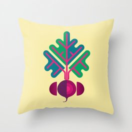 Vegetable: Beetroot Throw Pillow