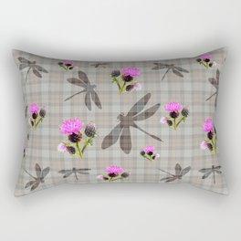 Dragonfly tartan Rectangular Pillow