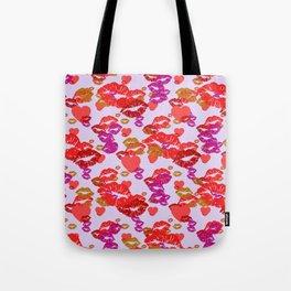 Hearts and Kisses Tote Bag