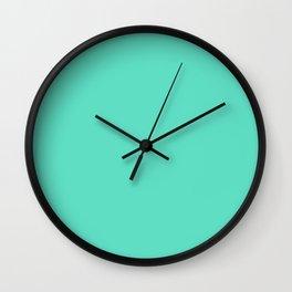 Aqua Blue Solid Color Wall Clock