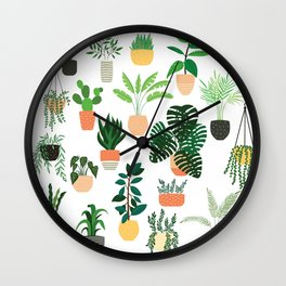 Houseplants 1 Wall Clock