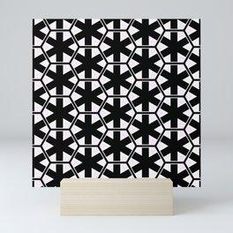 Multi Pattern Black and White Design Mini Art Print