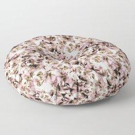 Sweet Pea Petals Photographic Pattern Floor Pillow