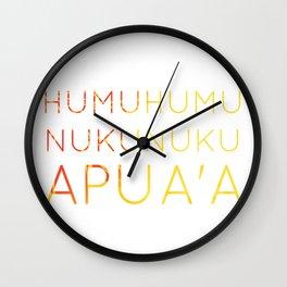 Humuhumunukunukuapua'a: Oahu State Fish Wall Clock