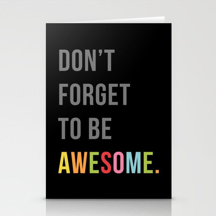 Be Awesome 2 Funny Quote Stationery Cards