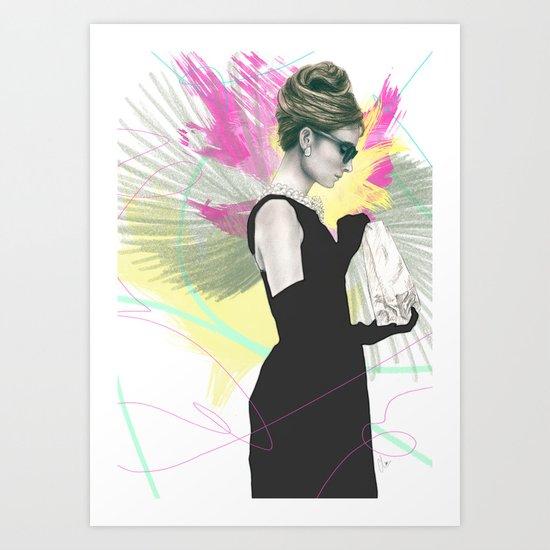 Breakfast at Tiffany's Fashion Illustration Art Print
