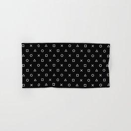 Gamer Pattern (White on Black) Hand & Bath Towel
