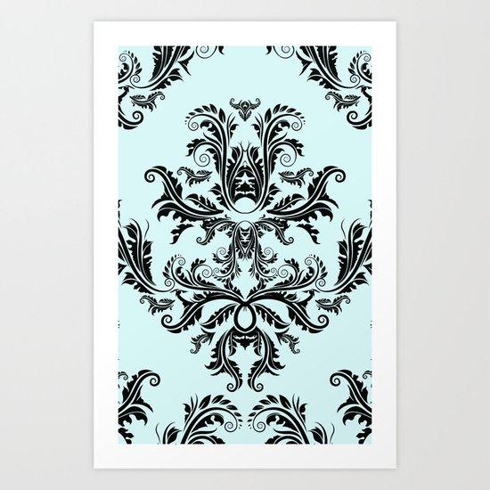 Damask Pattern Art Print