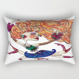 Free spirit Belly Dancer Rectangular Pillow