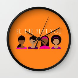 Black Girls Be The Best You Wall Clock