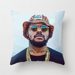 SBQ - Schoolboy Q Watercolor Throw Pillow