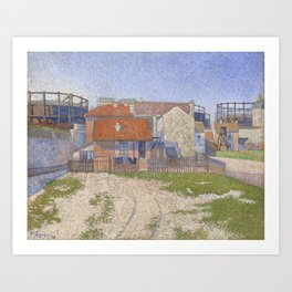 Gasometers at Clichy Art Print