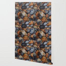 Pebbles on the shore Wallpaper