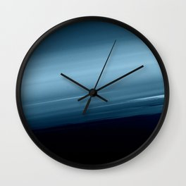 Deep Blue Smooth Ombre Wall Clock