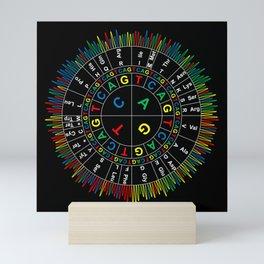 Sanger Codon Circle (black background) Mini Art Print