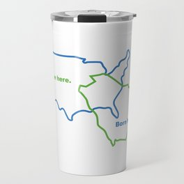 USA and Saudi Arabia Maps Combined Travel Mug