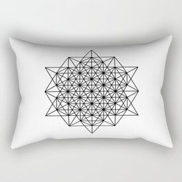 Star tetrahedron, sacred geometry, void theory Rectangular Pillow
