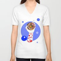 the moon V-neck T-shirts featuring Moon by scoobtoobins