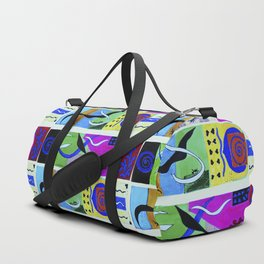Paradise color . Inspiration from Matisse; poster prints, wall decor, bright Graphicdesign, bird Duffle Bag