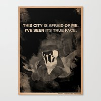 watchmen Canvas Prints featuring Rorschach from Watchmen by The Quotes Project