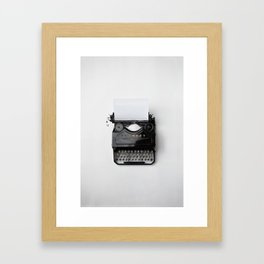 typewriter #society6 #decor #buyart Framed Art Print