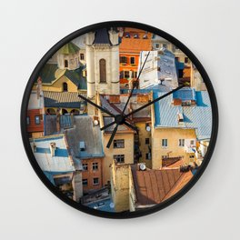 Colors of city Wall Clock