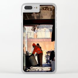 Clean-up On Aisle Two Clear iPhone Case